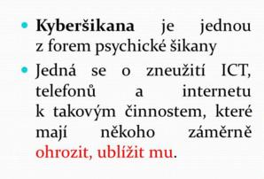 Pozor na kyberšikanu
