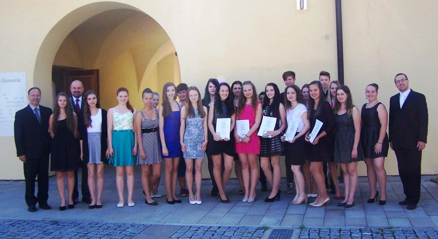 Slavnostní vyřazení žáků IX. třídy
