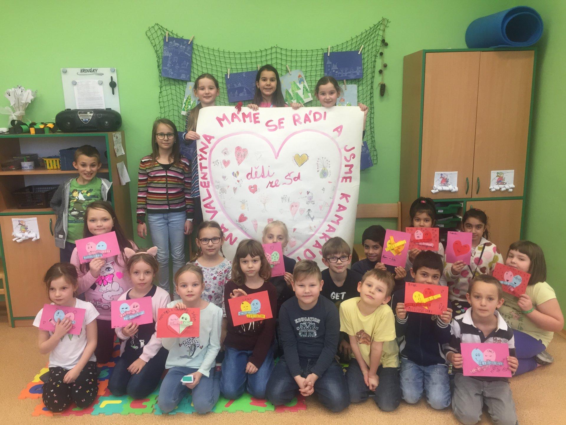 Krásného Valentýna přejeme ze školní družiny